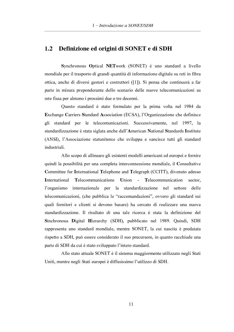 Anteprima della tesi: L'evoluzione delle reti di trasporto: da Sonet/Sdh a Dwdm, Pagina 7