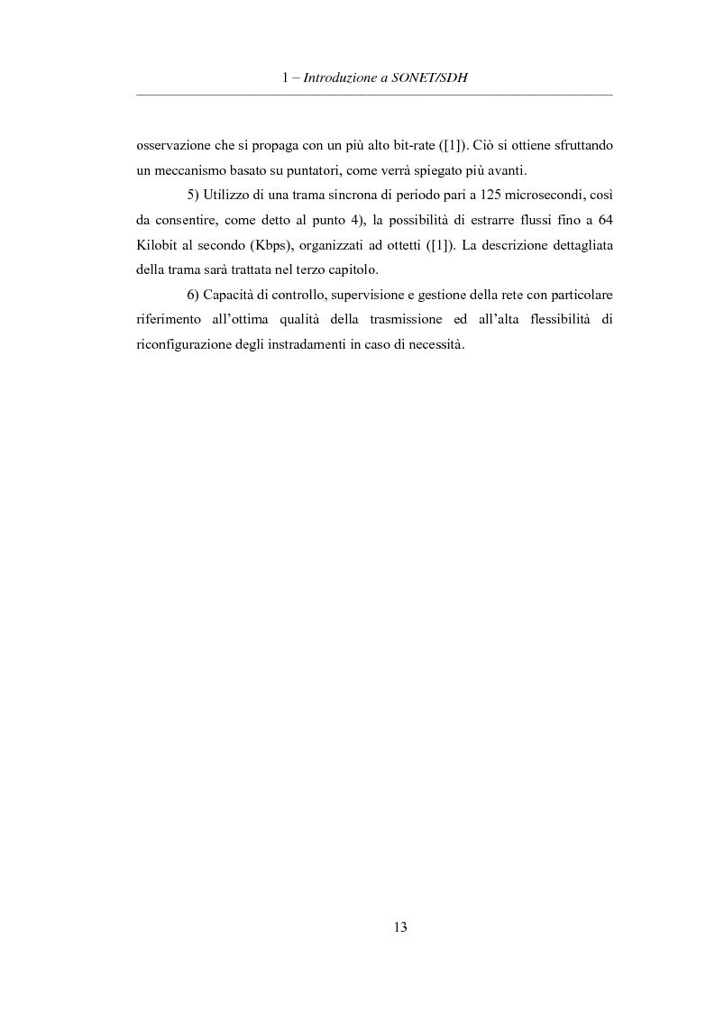 Anteprima della tesi: L'evoluzione delle reti di trasporto: da Sonet/Sdh a Dwdm, Pagina 9
