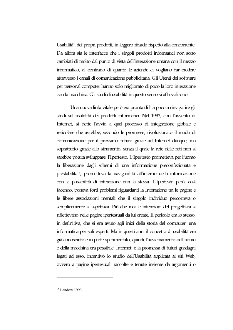 Anteprima della tesi: Web Usability: un approccio multidisciplinare alla progettazione del Web, Pagina 11