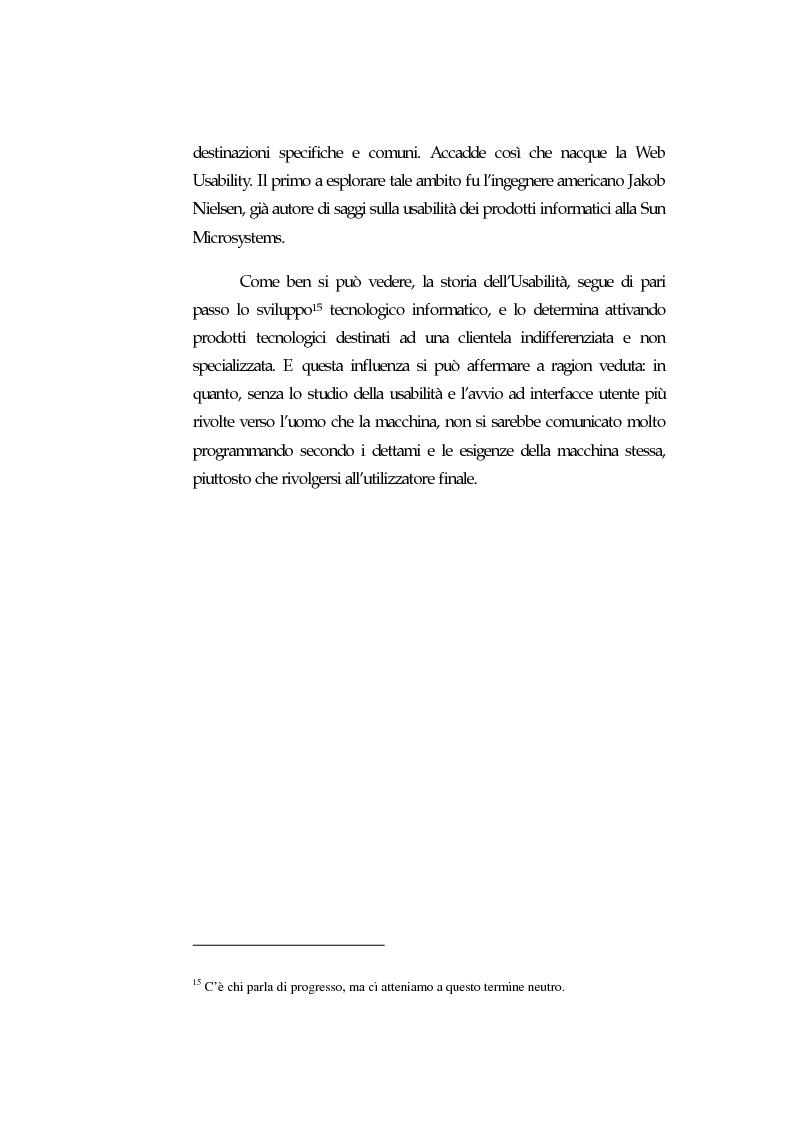 Anteprima della tesi: Web Usability: un approccio multidisciplinare alla progettazione del Web, Pagina 12