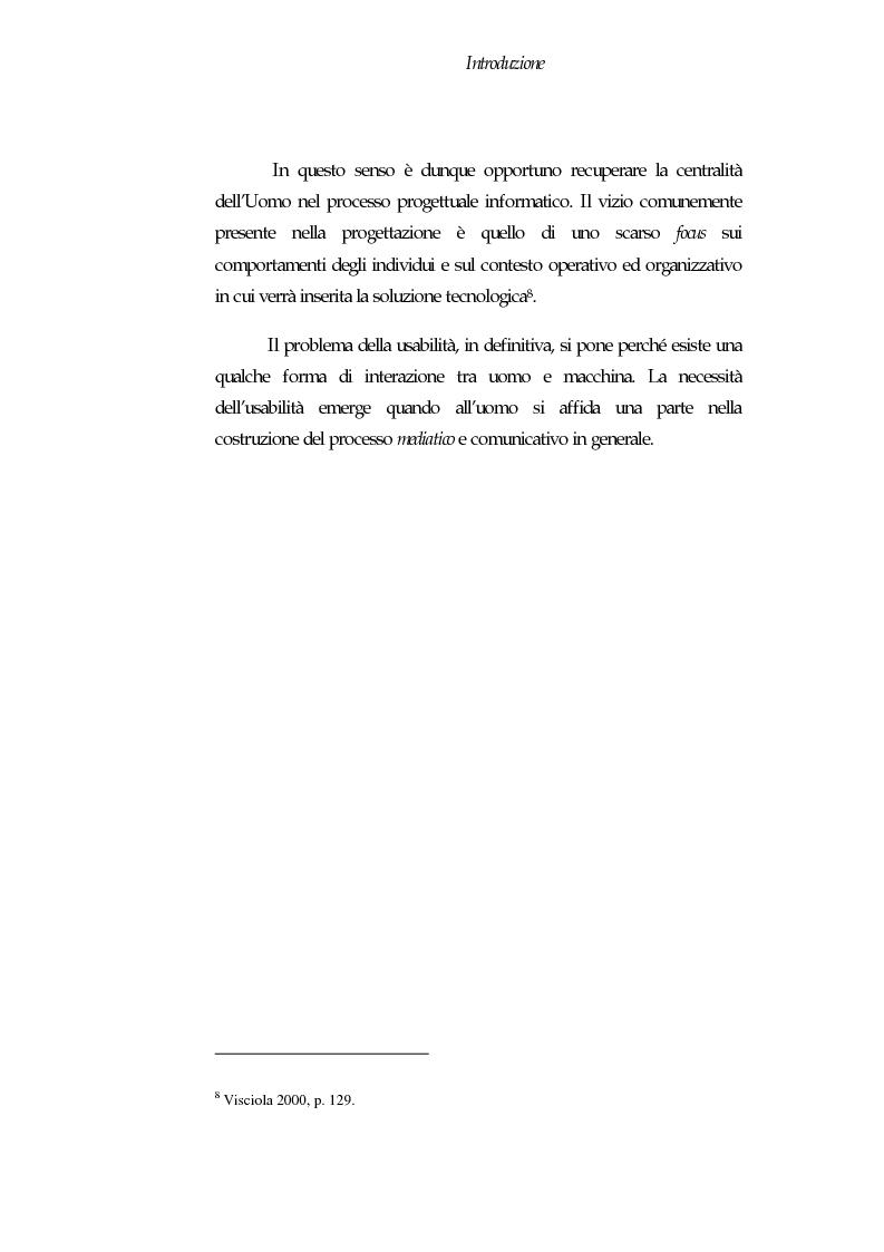 Anteprima della tesi: Web Usability: un approccio multidisciplinare alla progettazione del Web, Pagina 4