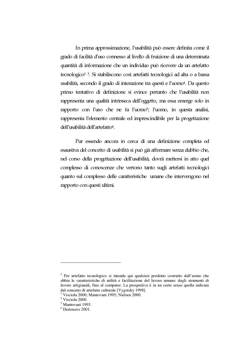 Anteprima della tesi: Web Usability: un approccio multidisciplinare alla progettazione del Web, Pagina 6