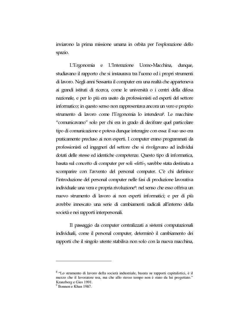 Anteprima della tesi: Web Usability: un approccio multidisciplinare alla progettazione del Web, Pagina 8