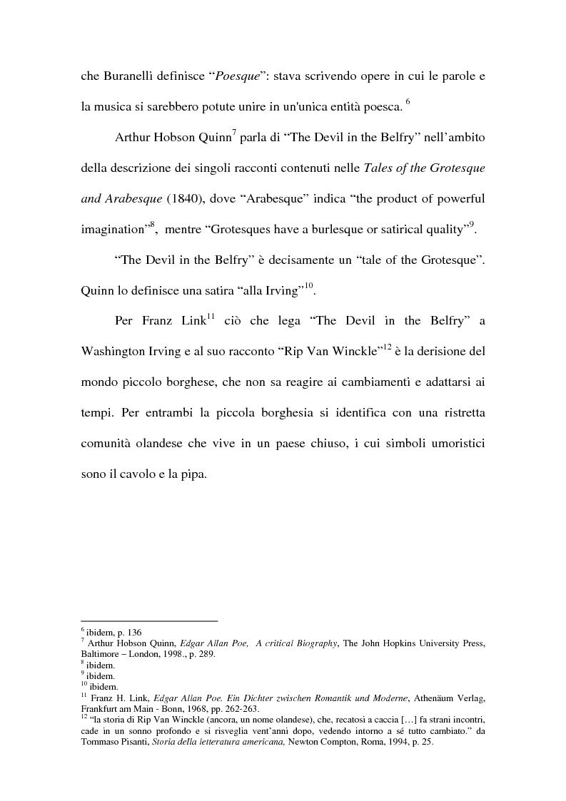 Anteprima della tesi: ''The Devil in the Belfry'' di E. A. Poe dalla carta a Internet, Pagina 5