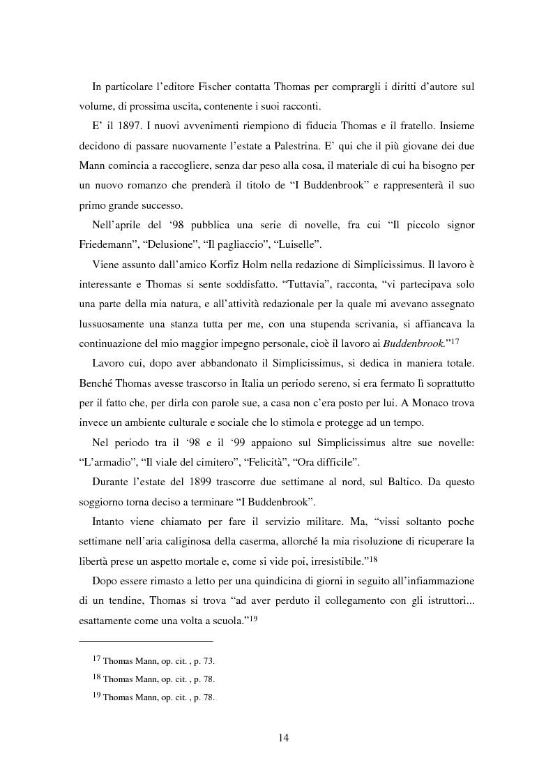 Anteprima della tesi: La formazione dell'uomo nelle opere di Thomas Mann, Pagina 10