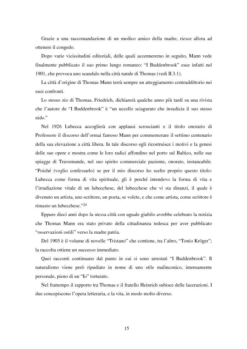 Anteprima della tesi: La formazione dell'uomo nelle opere di Thomas Mann, Pagina 11