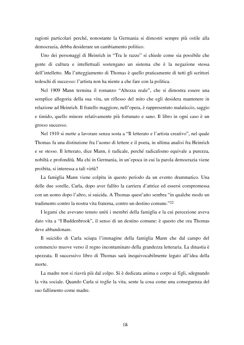 Anteprima della tesi: La formazione dell'uomo nelle opere di Thomas Mann, Pagina 14