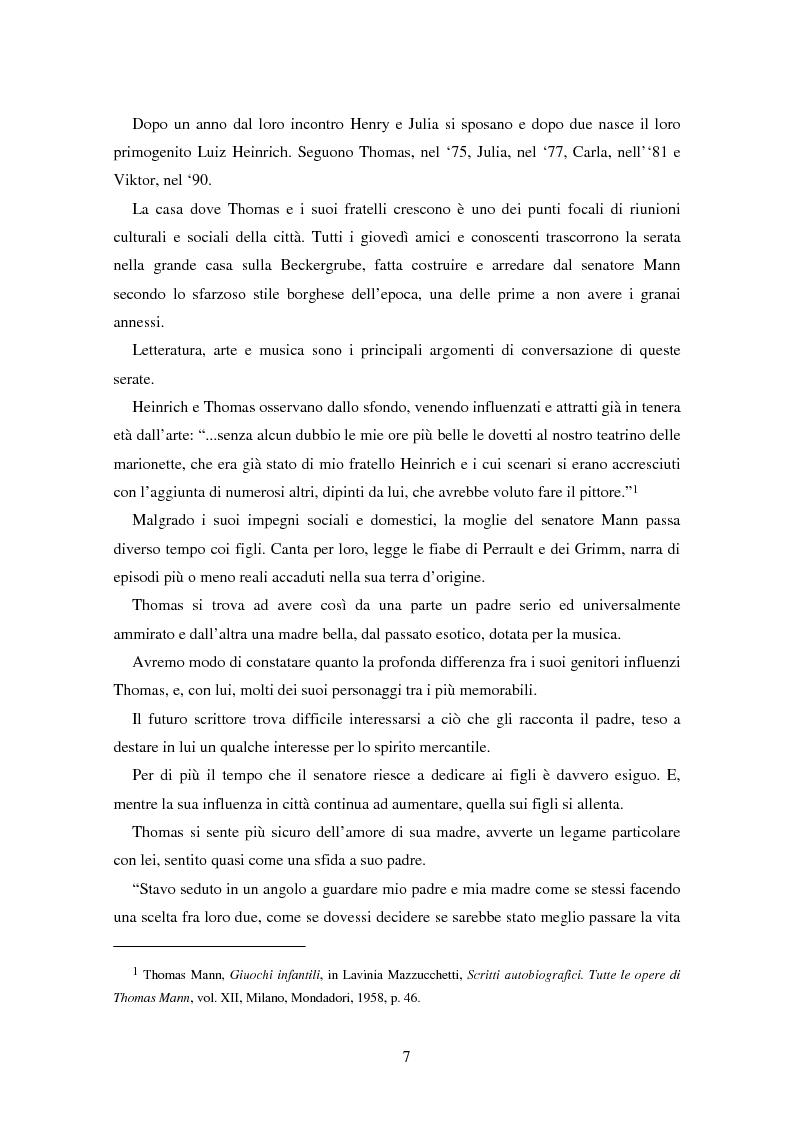 Anteprima della tesi: La formazione dell'uomo nelle opere di Thomas Mann, Pagina 3