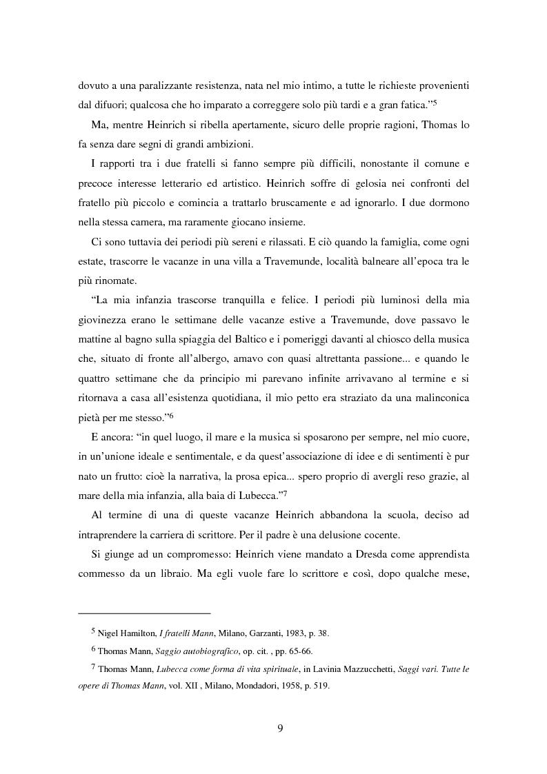 Anteprima della tesi: La formazione dell'uomo nelle opere di Thomas Mann, Pagina 5