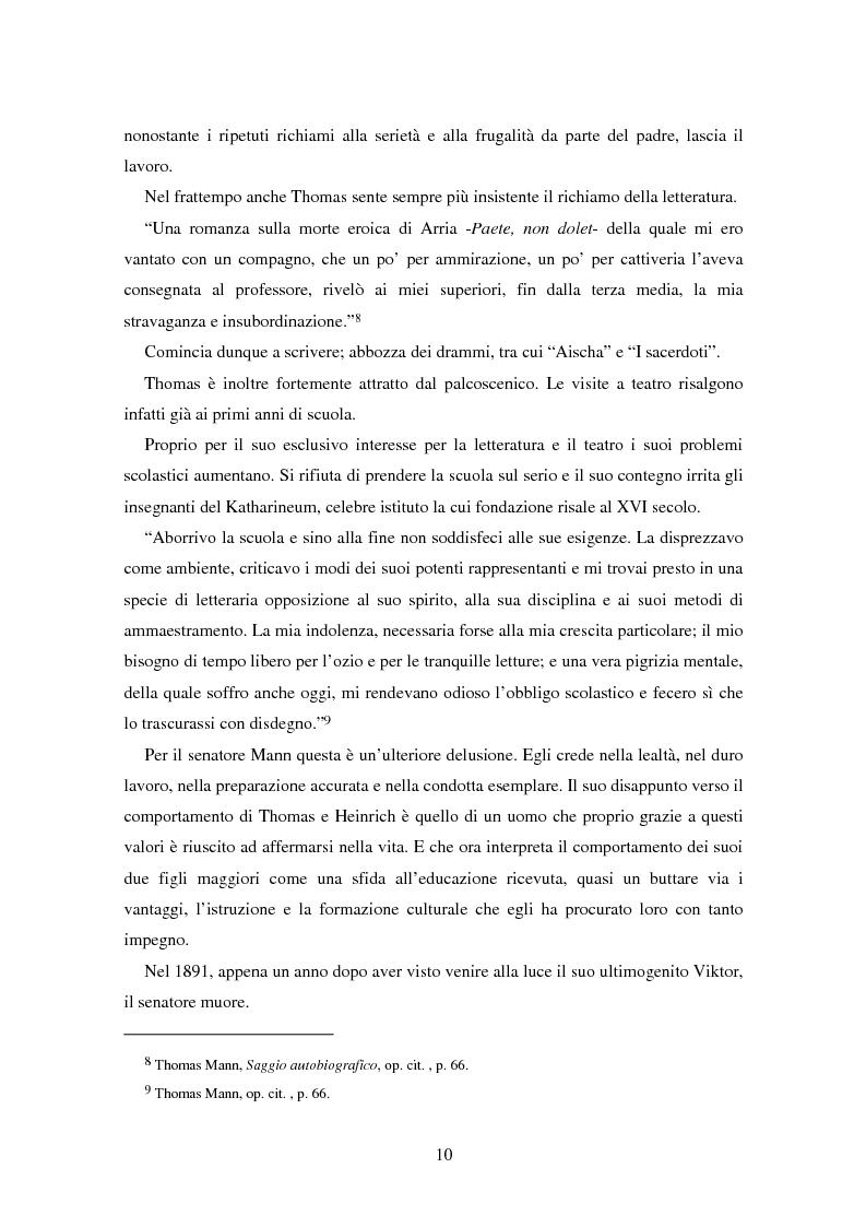 Anteprima della tesi: La formazione dell'uomo nelle opere di Thomas Mann, Pagina 6