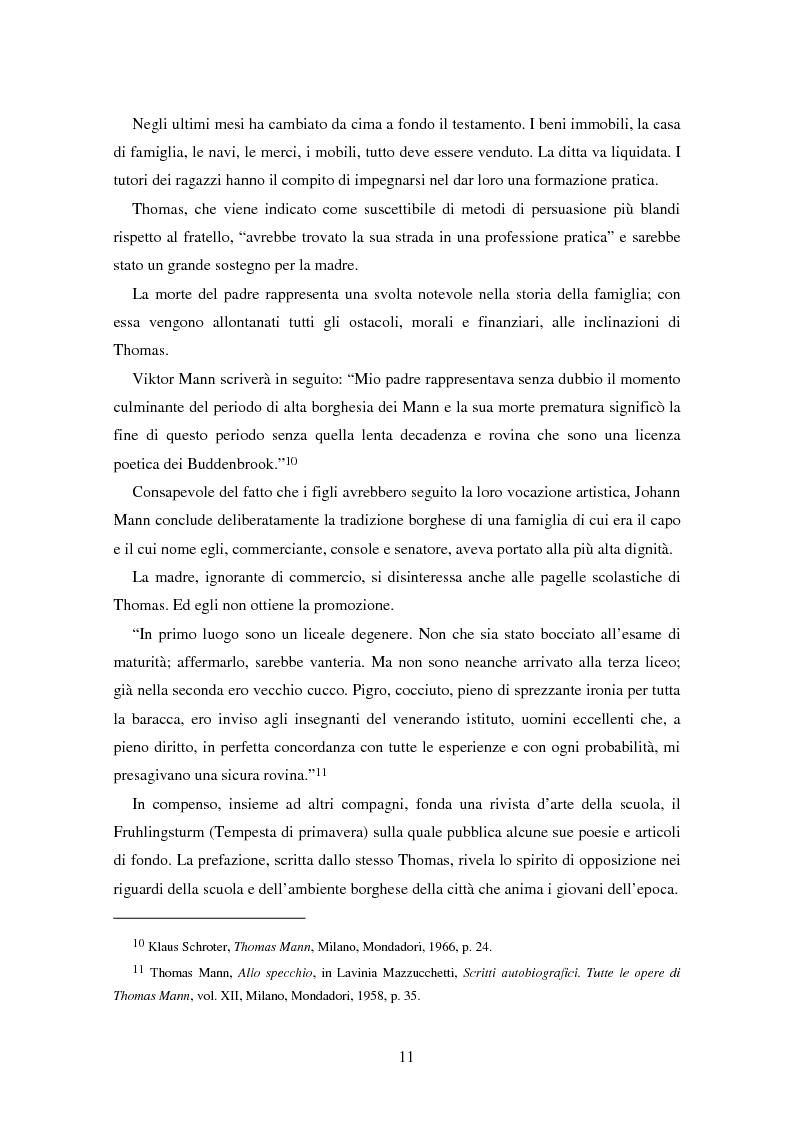 Anteprima della tesi: La formazione dell'uomo nelle opere di Thomas Mann, Pagina 7