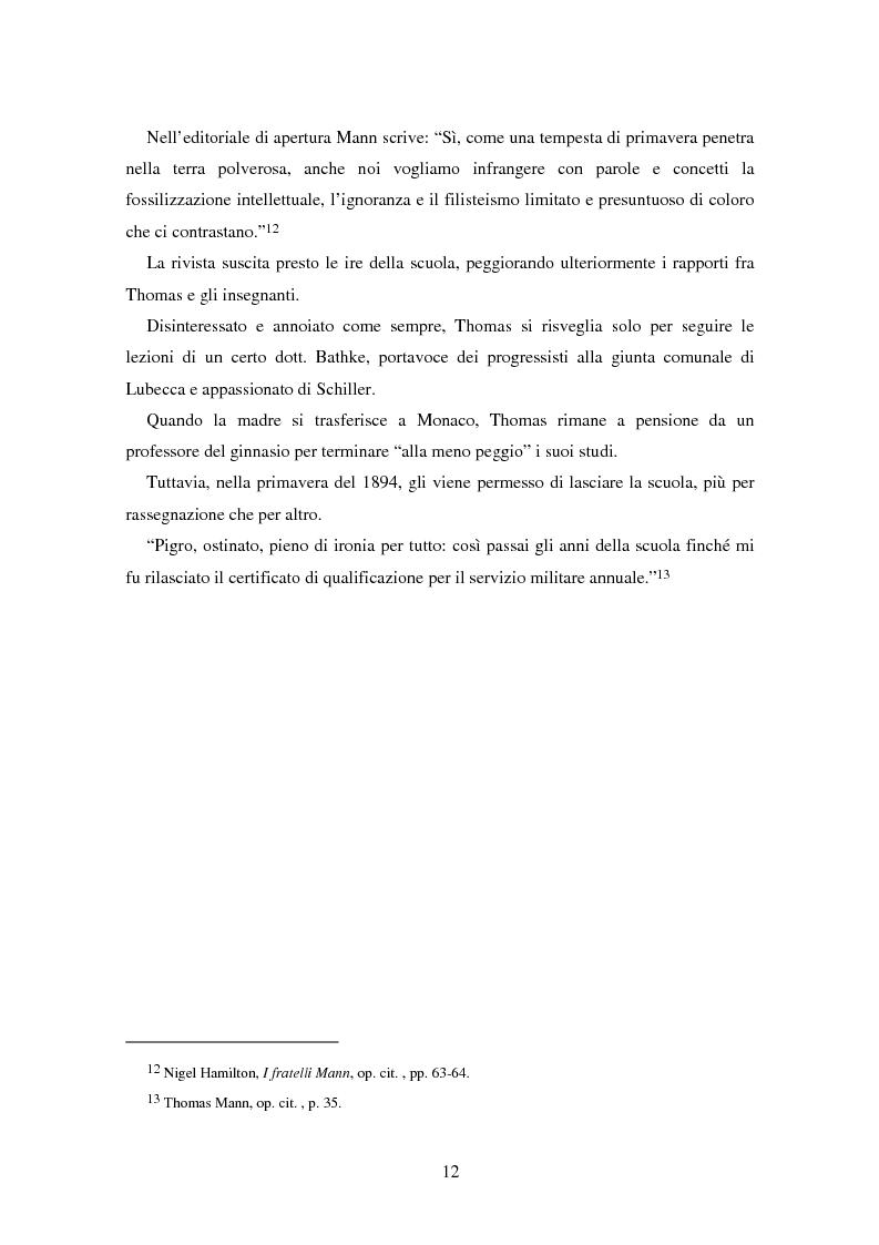 Anteprima della tesi: La formazione dell'uomo nelle opere di Thomas Mann, Pagina 8