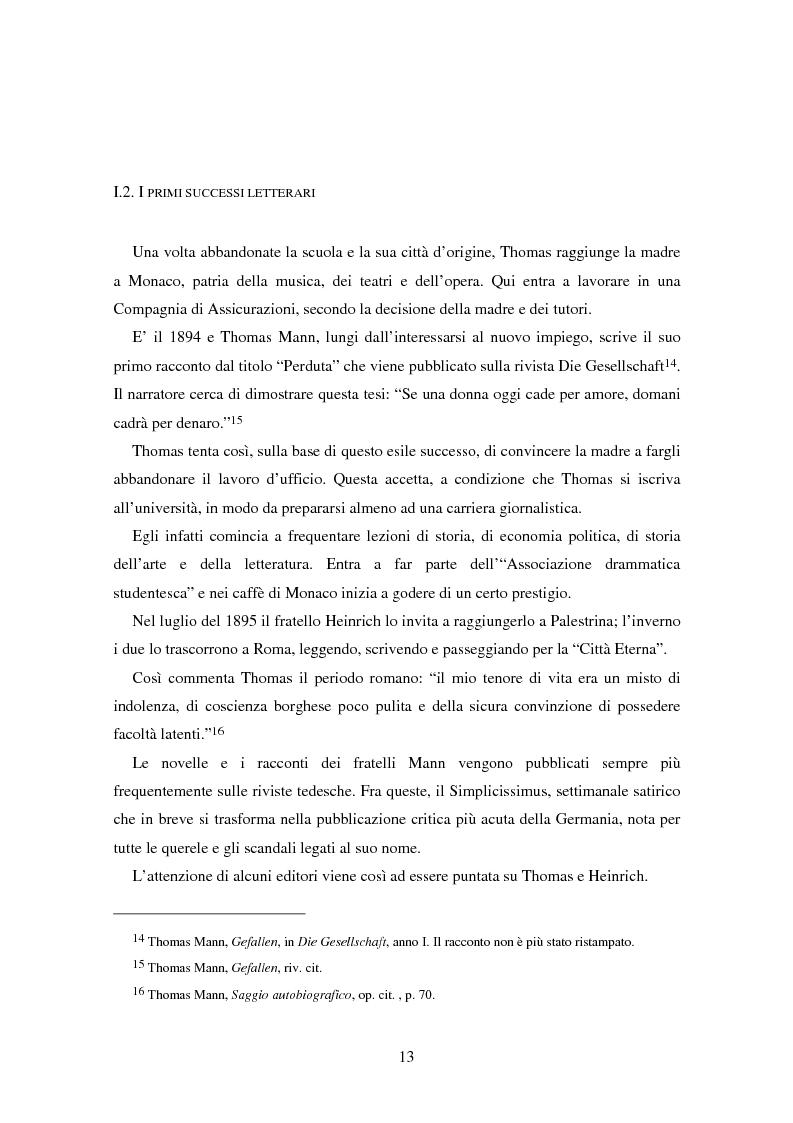 Anteprima della tesi: La formazione dell'uomo nelle opere di Thomas Mann, Pagina 9