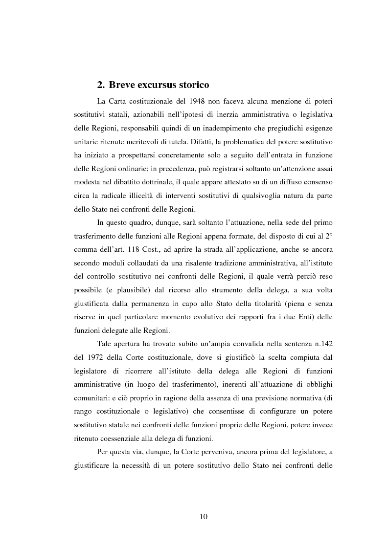 Anteprima della tesi: Il potere sostitutivo dopo la riforma del titolo V della parte seconda della Costituzione, Pagina 10