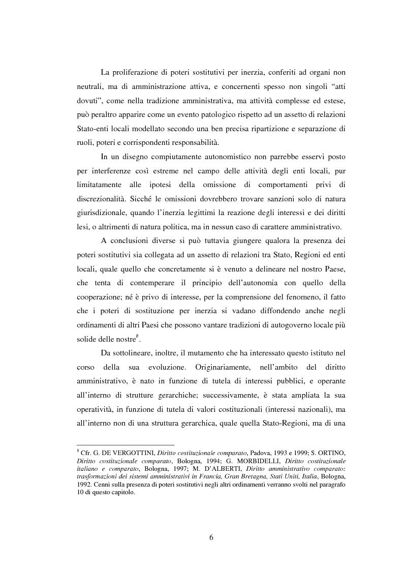 Anteprima della tesi: Il potere sostitutivo dopo la riforma del titolo V della parte seconda della Costituzione, Pagina 6