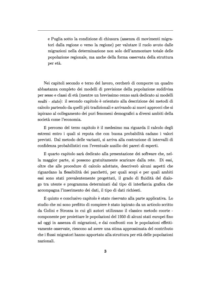 Anteprima della tesi: Software per le previsioni demografiche ed un loro impiego per lo studio degli effetti delle migrazioni sulle popolazioni, Pagina 3