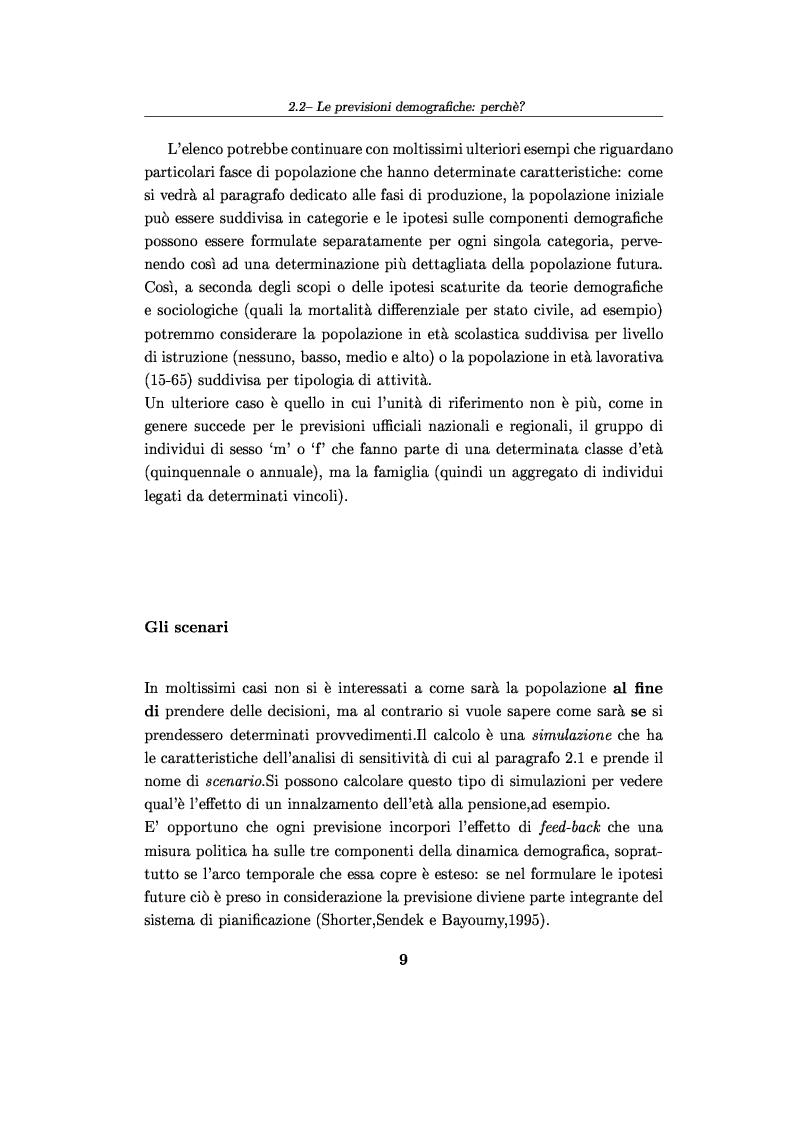 Anteprima della tesi: Software per le previsioni demografiche ed un loro impiego per lo studio degli effetti delle migrazioni sulle popolazioni, Pagina 9
