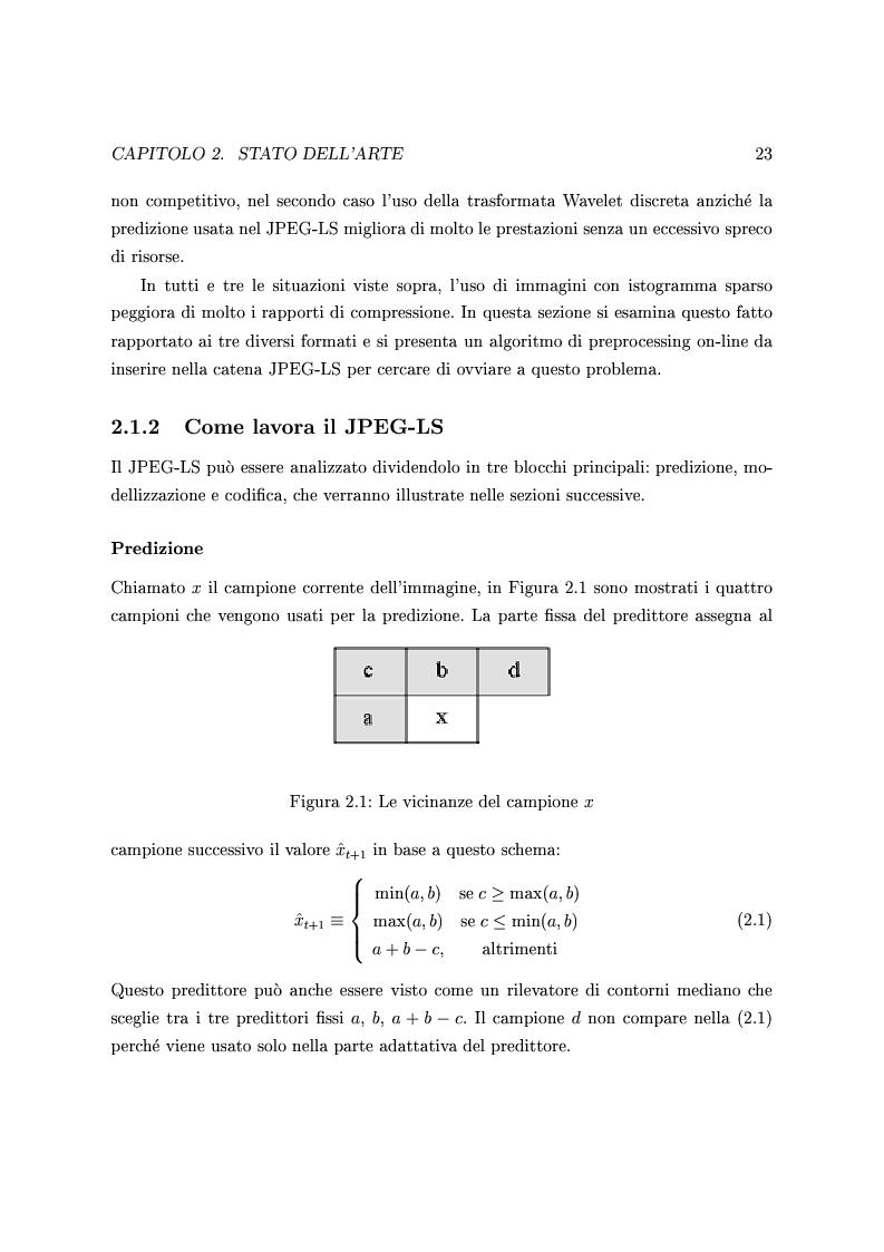 Anteprima della tesi: Algoritmi per la compressione di immagini a istogramma sparso nella catena jpeg2000, Pagina 12