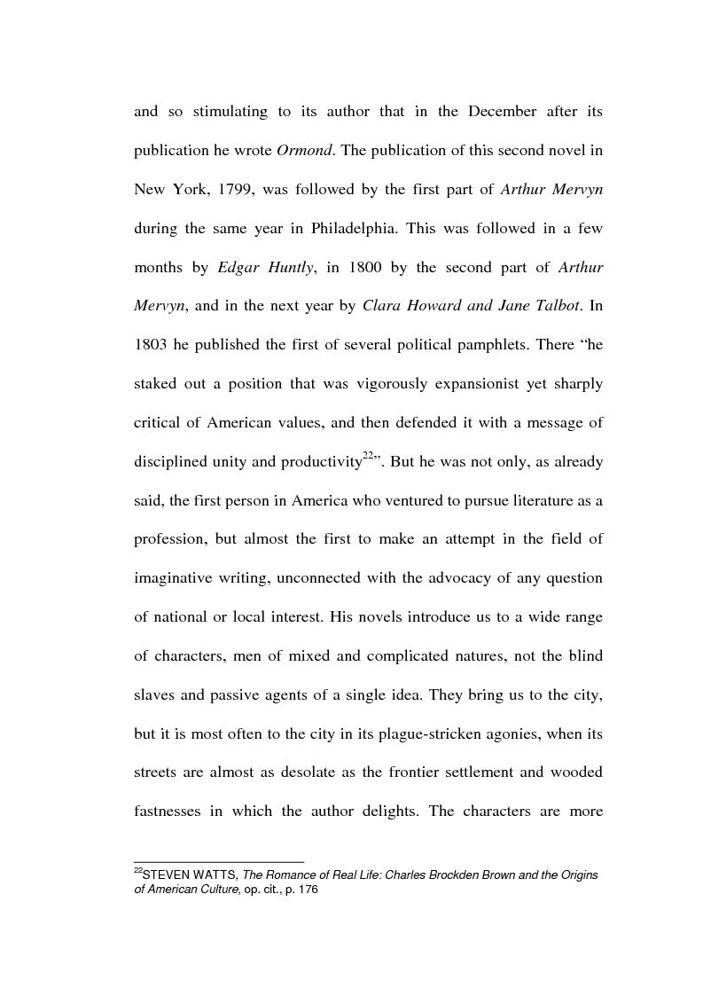 Anteprima della tesi: Charles Brockden Brown's Edgar Huntly: Sleepwalking through the Wildeness, Pagina 10