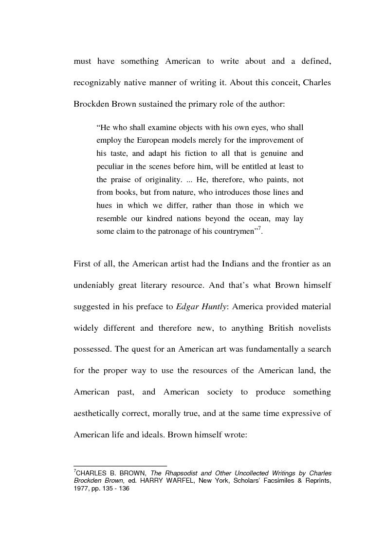 Anteprima della tesi: Charles Brockden Brown's Edgar Huntly: Sleepwalking through the Wildeness, Pagina 4