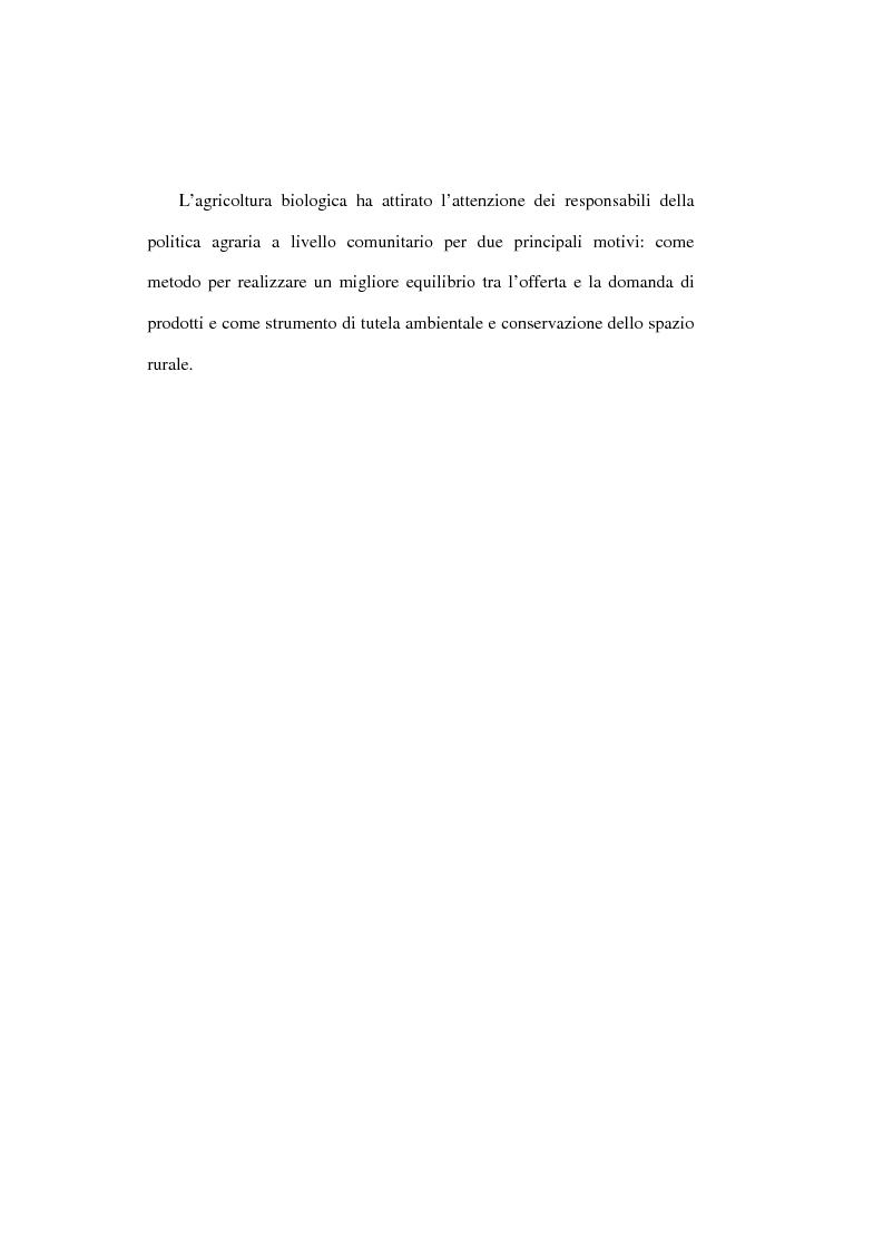 Anteprima della tesi: Il settore biologico: un'analisi delle aziende agricole nella comunita montana ''calore salernitano'', Pagina 10
