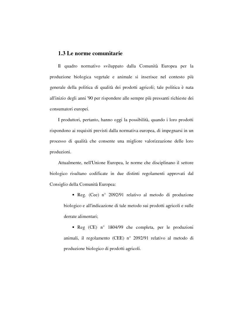 Anteprima della tesi: Il settore biologico: un'analisi delle aziende agricole nella comunita montana ''calore salernitano'', Pagina 11