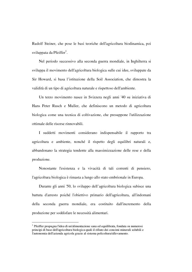 Anteprima della tesi: Il settore biologico: un'analisi delle aziende agricole nella comunita montana ''calore salernitano'', Pagina 4