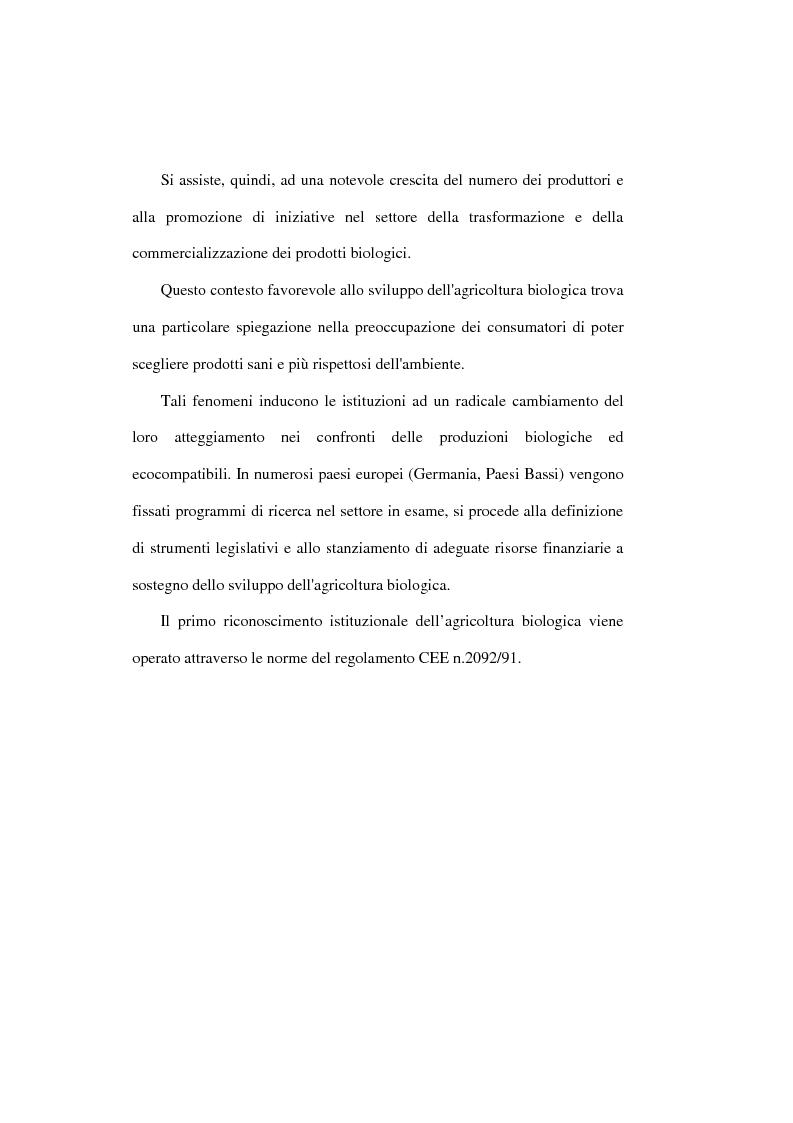 Anteprima della tesi: Il settore biologico: un'analisi delle aziende agricole nella comunita montana ''calore salernitano'', Pagina 6