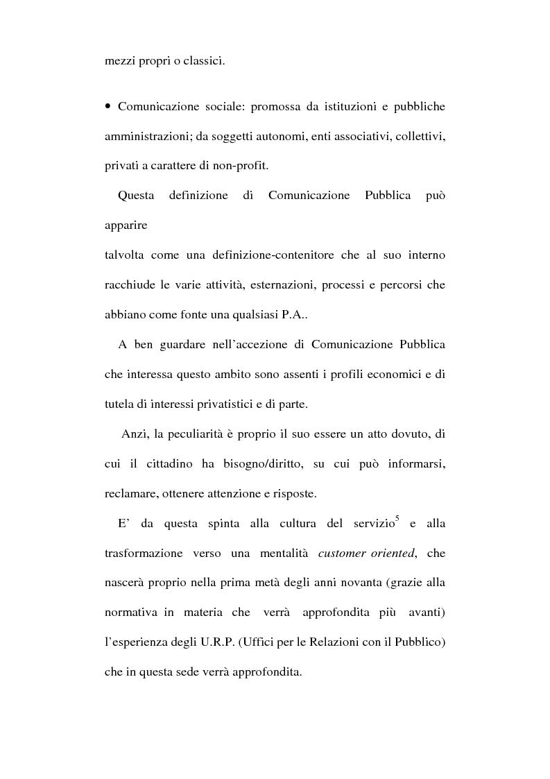 Anteprima della tesi: Sinergie tra ufficio stampa e ufficio relazioni con il pubblico nella comunicazione della pubblica amministrazione, Pagina 10