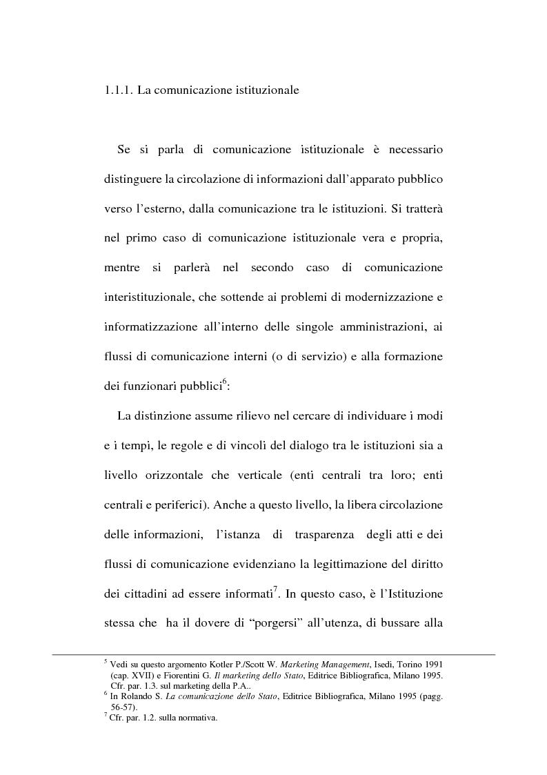 Anteprima della tesi: Sinergie tra ufficio stampa e ufficio relazioni con il pubblico nella comunicazione della pubblica amministrazione, Pagina 11