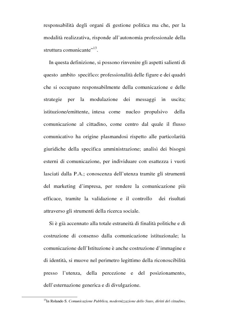 Anteprima della tesi: Sinergie tra ufficio stampa e ufficio relazioni con il pubblico nella comunicazione della pubblica amministrazione, Pagina 14