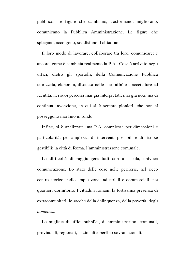 Anteprima della tesi: Sinergie tra ufficio stampa e ufficio relazioni con il pubblico nella comunicazione della pubblica amministrazione, Pagina 3