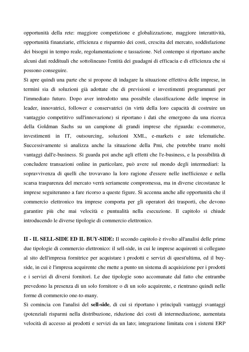 Anteprima della tesi: Il commercio elettronico business to business, Pagina 4