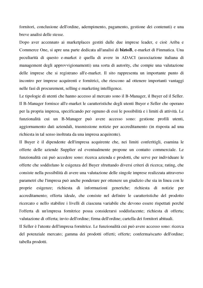Anteprima della tesi: Il commercio elettronico business to business, Pagina 8