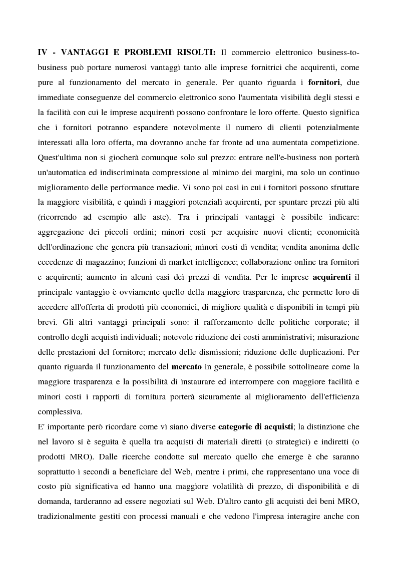 Anteprima della tesi: Il commercio elettronico business to business, Pagina 9
