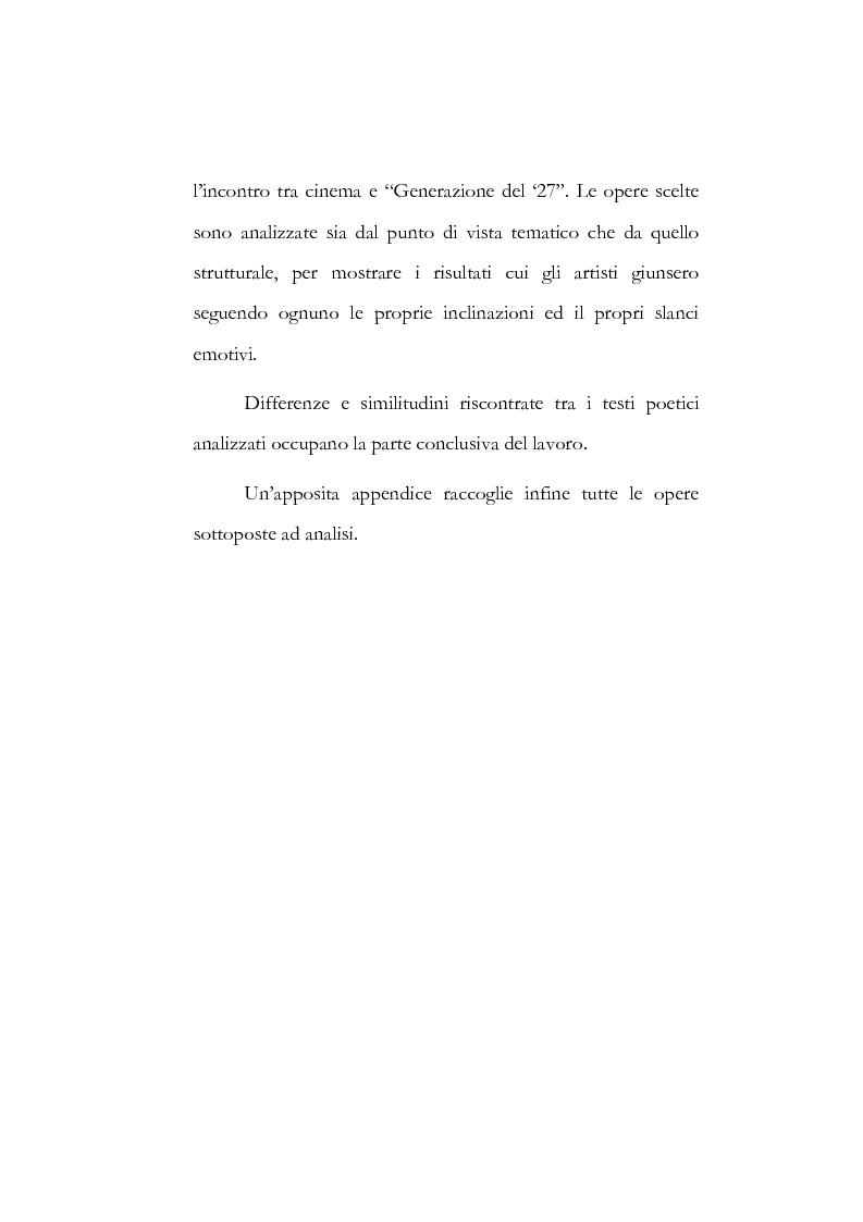 """Anteprima della tesi: I poeti spagnoli della ''Generazione del '27"""" ed il cinema, Pagina 2"""