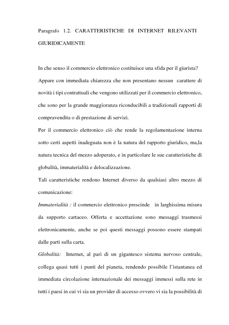 Anteprima della tesi: Il commercio telematico: legge regolatrice, Pagina 10