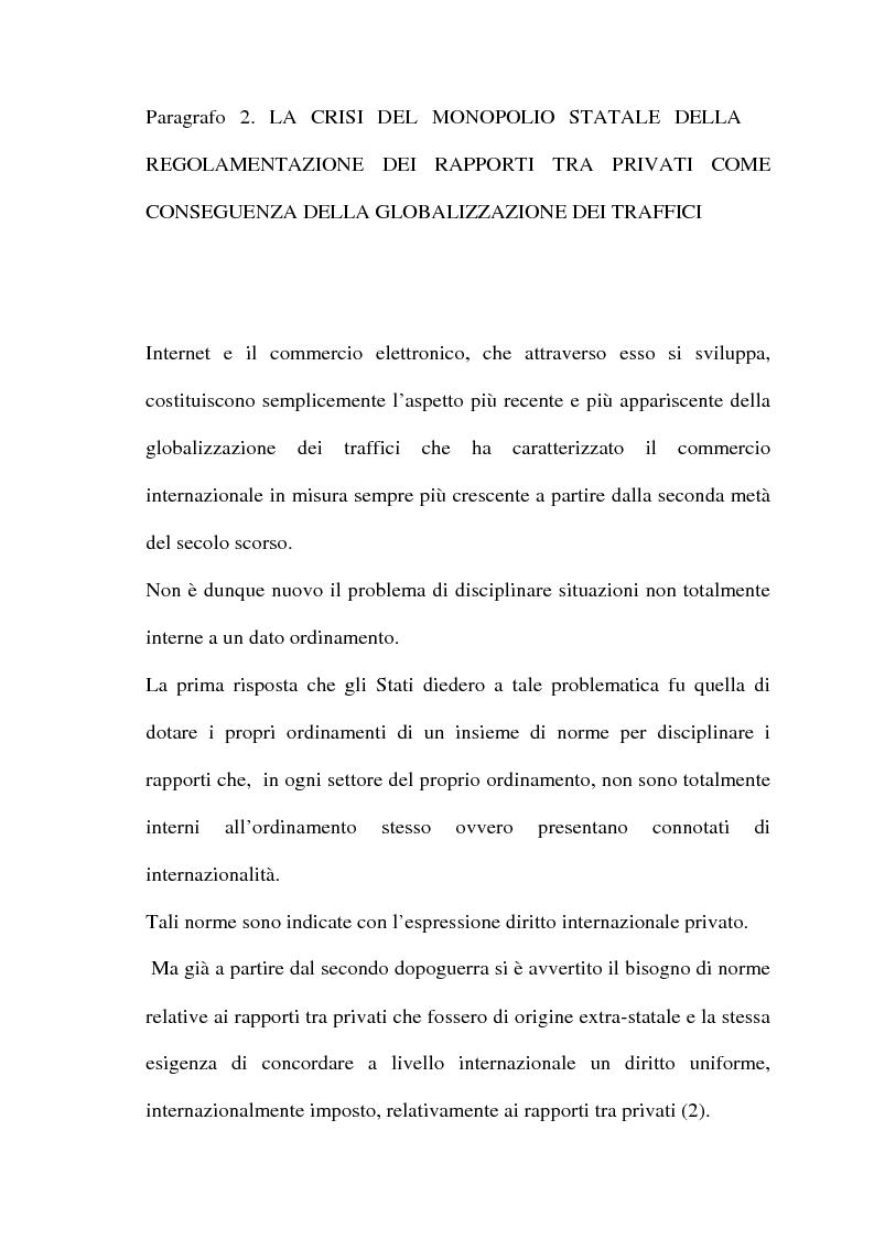 Anteprima della tesi: Il commercio telematico: legge regolatrice, Pagina 14