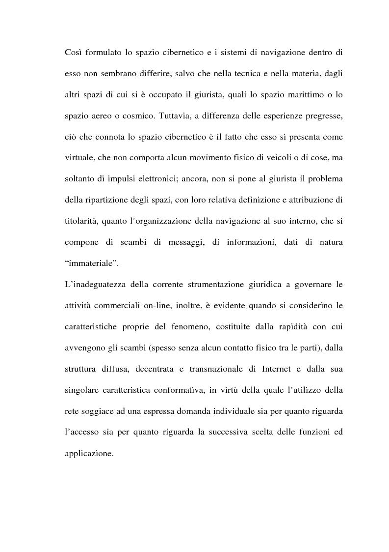 Anteprima della tesi: Il commercio telematico: legge regolatrice, Pagina 2
