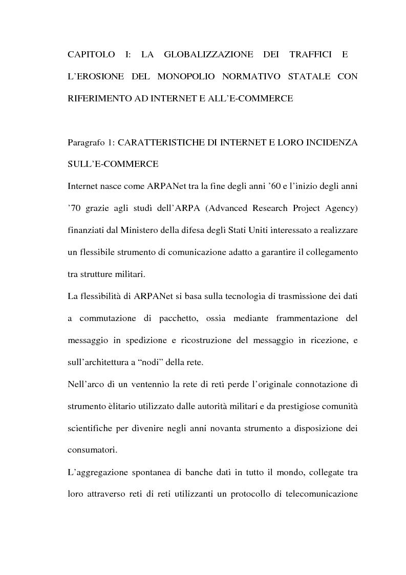 Anteprima della tesi: Il commercio telematico: legge regolatrice, Pagina 4