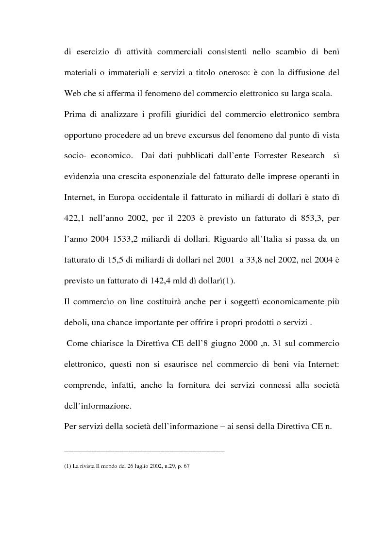 Anteprima della tesi: Il commercio telematico: legge regolatrice, Pagina 6