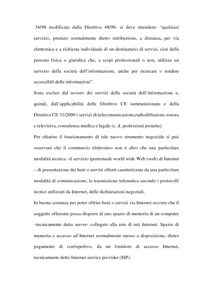 Anteprima della tesi: Il commercio telematico: legge regolatrice, Pagina 7
