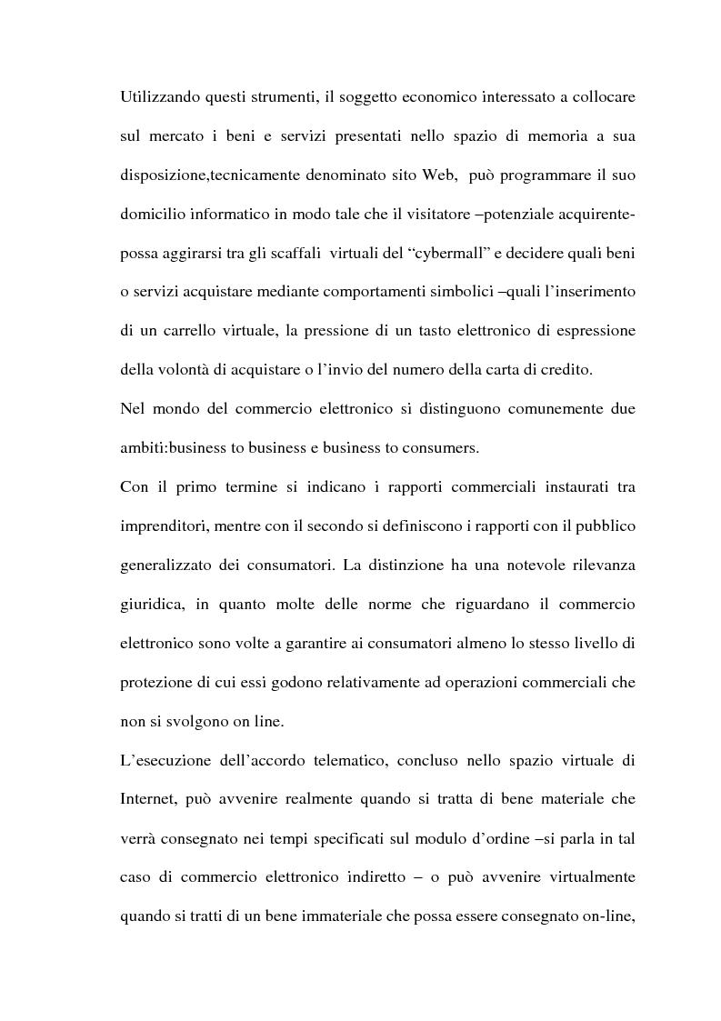 Anteprima della tesi: Il commercio telematico: legge regolatrice, Pagina 8