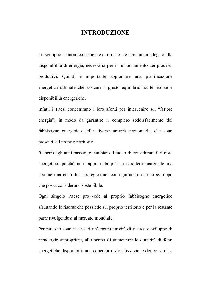 Anteprima della tesi: Bilancio energetico della regione Puglia: luci ed ombre, Pagina 1