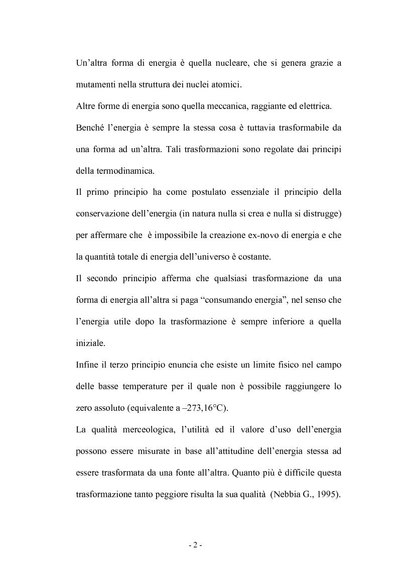 Anteprima della tesi: Bilancio energetico della regione Puglia: luci ed ombre, Pagina 6