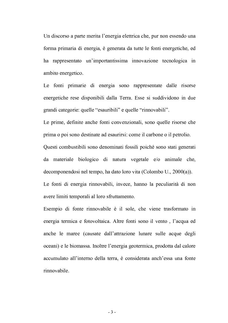 Anteprima della tesi: Bilancio energetico della regione Puglia: luci ed ombre, Pagina 7