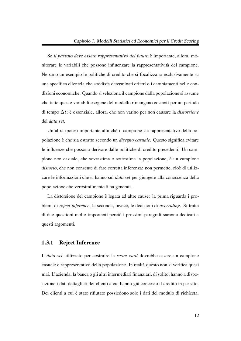 Anteprima della tesi: Discriminazione logistica per la valutazione del rischio di credito, Pagina 12