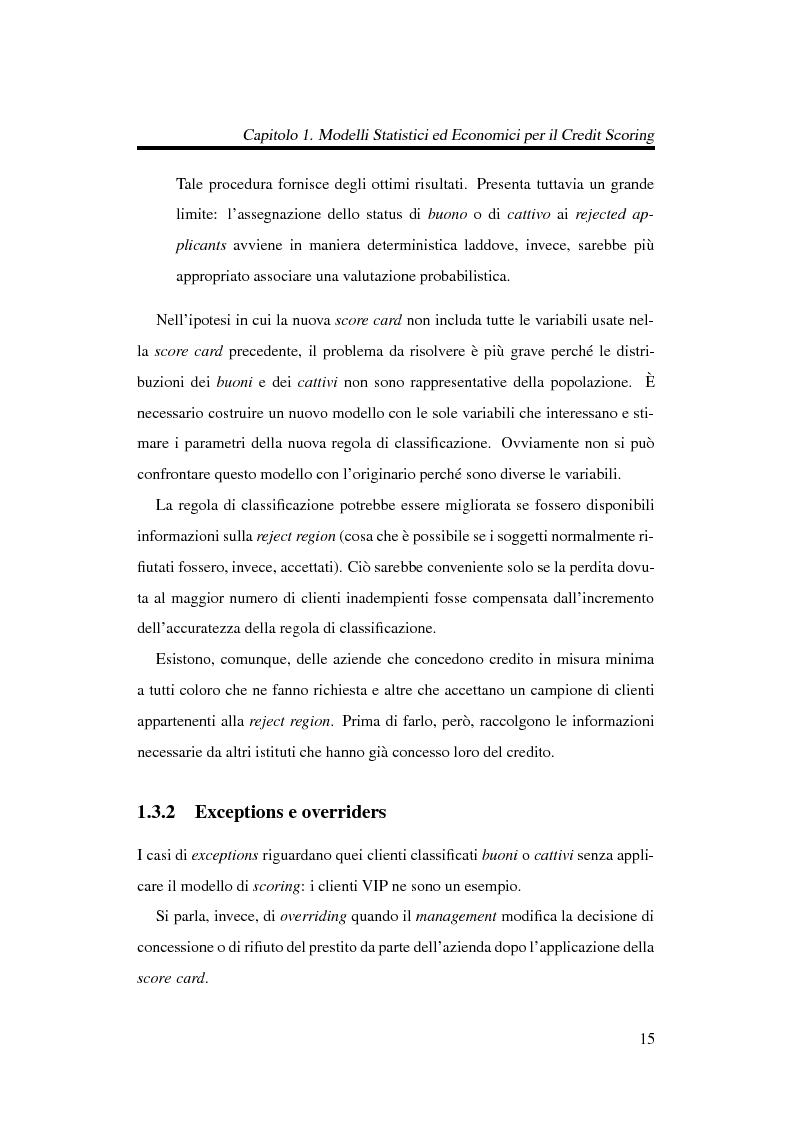 Anteprima della tesi: Discriminazione logistica per la valutazione del rischio di credito, Pagina 15
