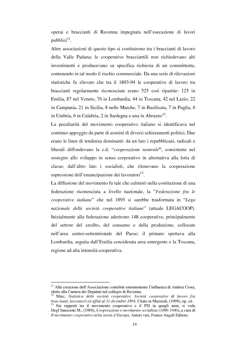 Anteprima della tesi: Gli aspetti economici dell'impresa cooperativa e le sue potenzialità di sviluppo nel Mezzogiorno: il caso della cooperativa ''Giustizia e libertà'', Pagina 10