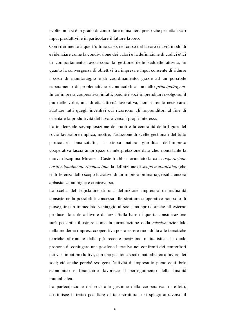 Anteprima della tesi: Gli aspetti economici dell'impresa cooperativa e le sue potenzialità di sviluppo nel Mezzogiorno: il caso della cooperativa ''Giustizia e libertà'', Pagina 2